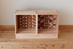 空気浄化本棚の「こぐちキューブ」